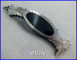Stunning Doug Casteel XXL Custom Handmade Folding Art Knife Damascus Blade