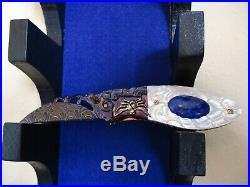 Suchat Jangtanong Folding Knife Spider Mosaic Damascus Titanium Frame C. O. A