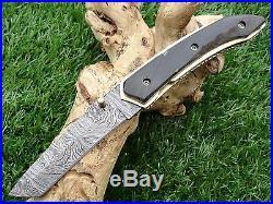 Taschenmesser Damast, Damascus Folding Knife 00902