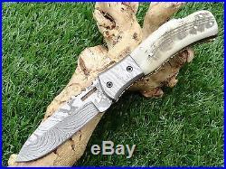 Taschenmesser Damast, Damascus Folding Knife 00908