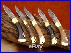 Taschenmesser Damast, Messer 5 stück Damascus Folding Knife
