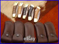Taschenmesser Damast, Messer 5 stück Damascus Folding Knife 4227#1