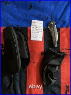 Tepe Designs Damascus Kilij Flipper Folding Knife RARE NEW