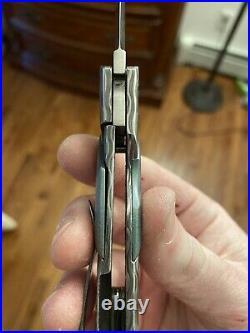 Tobin Smith Full Custom Damascus S90V Gent Folding Knife One Off RARE NEW