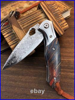 VG10 Damascus Steel Tactical Folding Knife Tactical Outdoor Camping Survival EDC