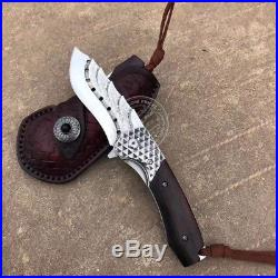 Vg10 Core Damascus Hunting Knife Camping Army Rescue Folding Pocket Knife Sheath