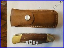 Vintage Buck 110 folding knife 3 pin Damascus 3 pin frames were first Buck110s