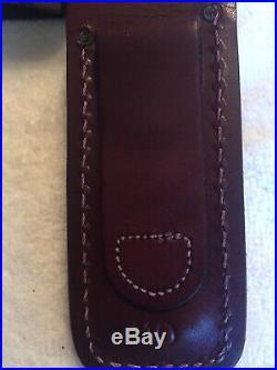 Vintage USA Buck Model 110dm Damascus/stag Folding Hunter Knife 1989
