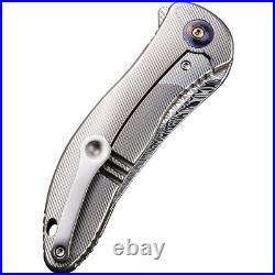 We Knife Co Synergy 2 Folding Knife 3.5 Damascus Steel Blade Titanium Handle