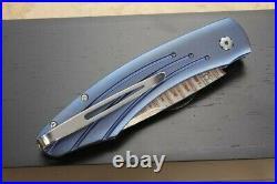 William Henry B-12 Skyfall Copper Wave Damascus Folding Knife