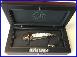 William Henry Limited Edition Custom Folding Knife in Case