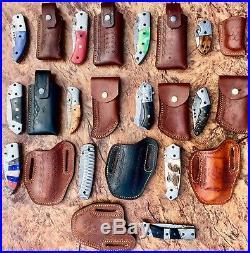 (lot Of 12)damascus Handmade Folding Knives Bone, Stag, Sheep Horn, Bull Horn, Wood